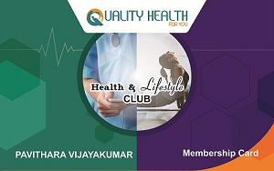 Health and Lifestyle Health Club Membership Card